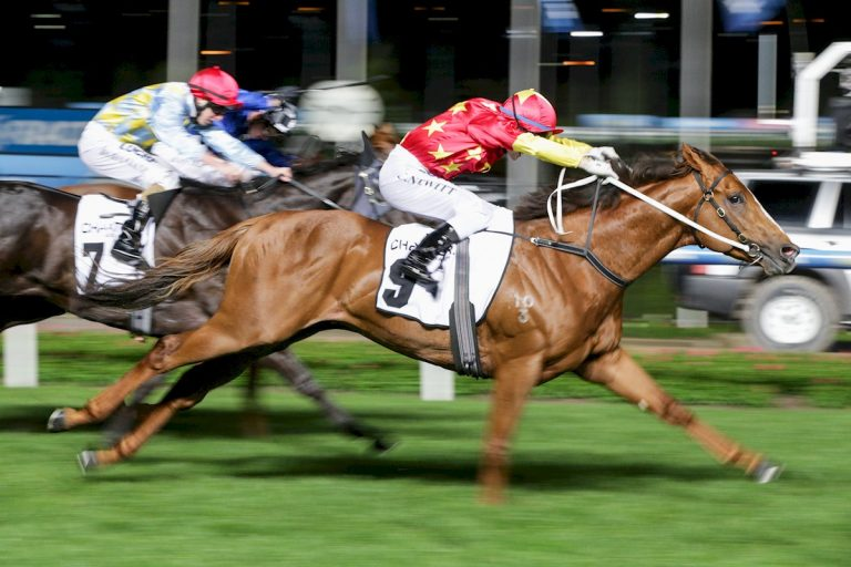 Extreme Choice ridden by Craig Newitt wins Charter Keck Cramer Moir Stakes at Moonee Valley Racecourse on September 30, 2016 in Moonee Ponds, Australia. (Michael Dodge/Racing Photos)